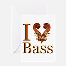 I Love Bass Greeting Card