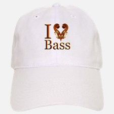 I Love Bass Baseball Baseball Cap