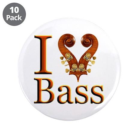 """I Love Bass 3.5"""" Button (10 pack)"""