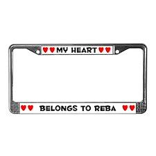 My Heart: Reba (#004) License Plate Frame
