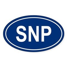 SNP Oval Decal