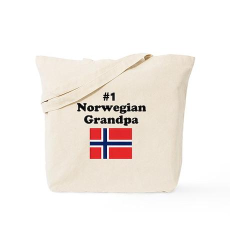 #1 Norwegian Grandpa Tote Bag