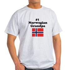 #1 Norwegian Grandpa T-Shirt