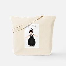 Brunette Diva in Black Dress Tote Bag
