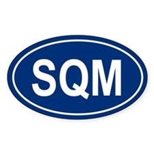 SQM Oval Decal