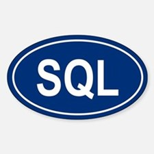 SQL Oval Decal