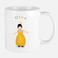 Brunette Diva in Gold Dress Mug
