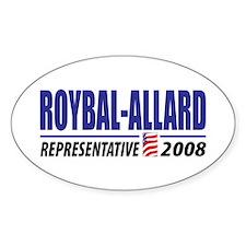 Roybal-Allard 2008 Oval Decal