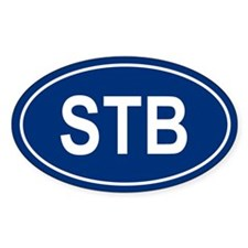 STB Oval Decal