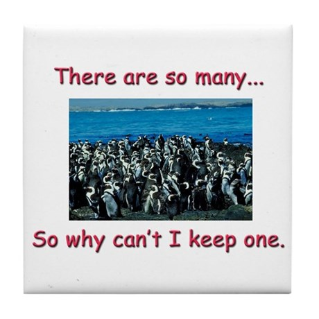 So Many Penguins Tile Coaster