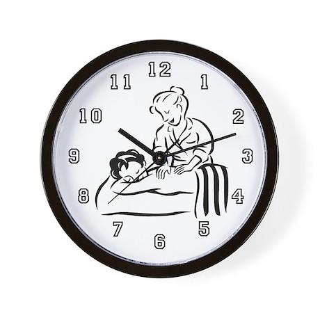 Massage Therapist Wall Clock