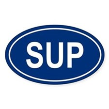 SUP Oval Bumper Stickers
