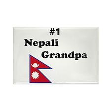 #1 Nepali Grandpa Rectangle Magnet