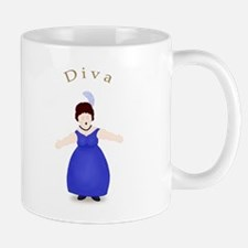 Brunette Diva in Blue Dress Mug