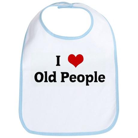 I Love Old People Bib