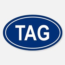 TAG Oval Decal