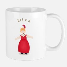 Strawberry Blond Diva in Red Mug