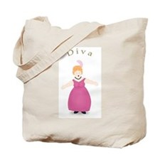 Strawberry Blond Diva in Rose Dress Tote Bag