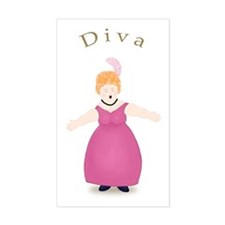Strawberry Blond Diva in Rose Dress Decal