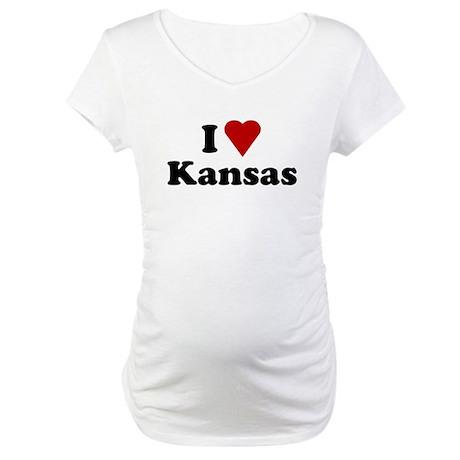 I Love Kansas Maternity T-Shirt