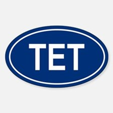 TET Oval Decal