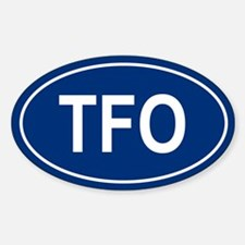 TFO Oval Decal
