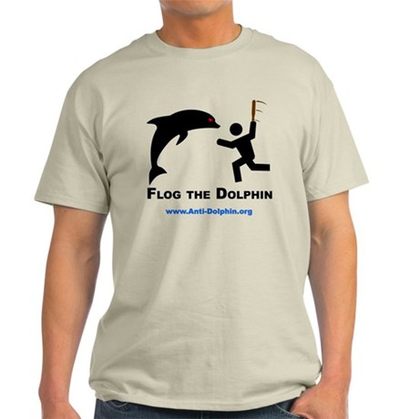 Flog the Dolphin Ash Grey T-Shirt