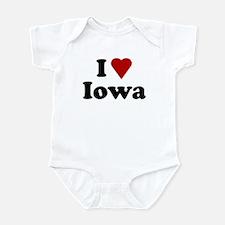 I Love Iowa Infant Bodysuit
