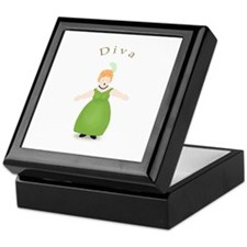 Strawberry Blond Diva in Green Keepsake Box