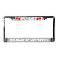 My Heart: Heriberto (#006) License Plate Frame