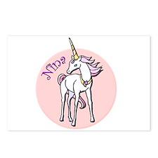 Nina Unicorn Postcards (Package of 8)