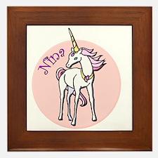 Nina Unicorn Framed Tile