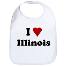 I Love Illinois Bib