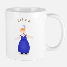 Strawberry Blond Diva in Blue Dress Mug