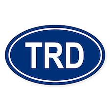 TRD Oval Bumper Stickers