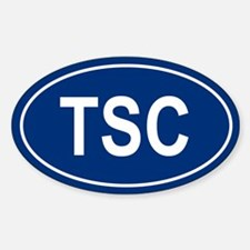 TSC Oval Decal
