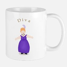 Strawberry Blond Diva in Purple Mug