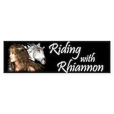 Riding with Rhiannon Bumper Bumper Sticker