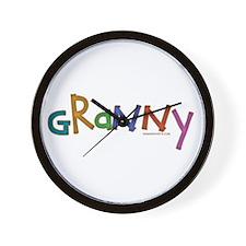 CLICK 4 wheelin granny Wall Clock