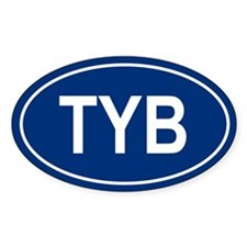TYB Oval Bumper Stickers