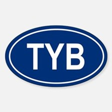 TYB Oval Decal