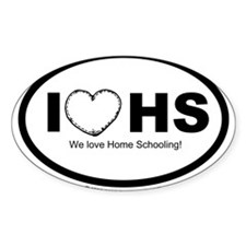 I love homeschooling Oval Decal