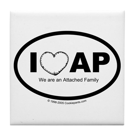 We Love AP Tile Coaster