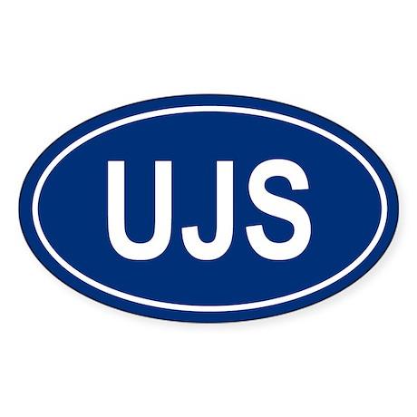UJS Oval Sticker