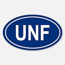 UNF Oval Bumper Stickers