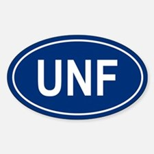 UNF Oval Decal