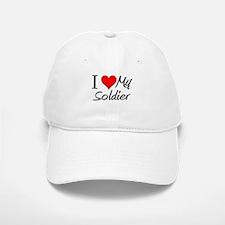 I Heart My Soldier Baseball Baseball Cap
