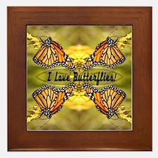 I Love Butterflies Framed Tile