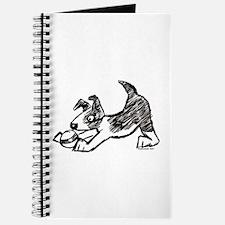 Dog Playing With Ball Journal