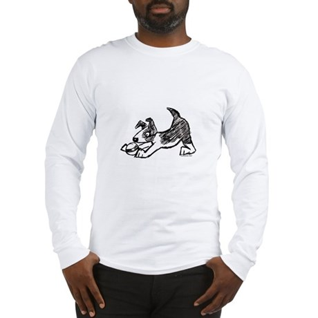 Dog Playing With Ball Long Sleeve T-Shirt